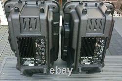 Pair of EKHO PL12A active powered speakers disco karaoke good working order (d)