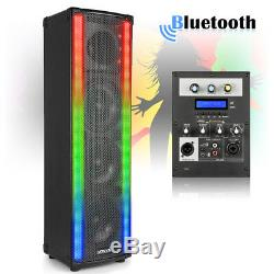 Pair of House Party Disco Speakers with Bluetooth & LED Flashing Lights 1200W