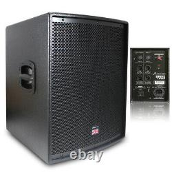 Pair of Studiomaster DRIVE 15 SA Subwoofer Low Bass Bins Mobile DJ Disco PA