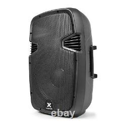 Pair of Vonyx 12 Active Powered DJ Speakers PA System Disco Party 1200 Watts