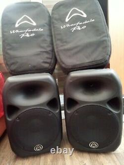 Pair of Wharfedale Pro Titan 12D Active 500 Watt DJ Disco Speakers with Covers