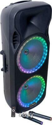 Party Light & Sound Party-215RGB 1000w Portable Speaker & Disco Lights