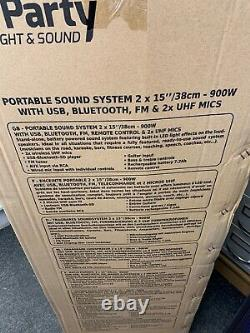 Party Light & Sound Party-215RGB 900w Portable Speaker & Disco Lights