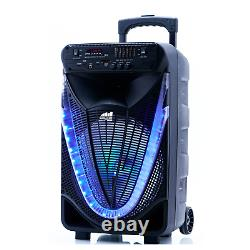 Portable 12 inch Bluetooth Party Speaker with Disco Light