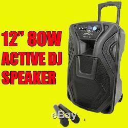 QTX Busker 12, 12 Portable DJ DISCO PA INC WIRELESS MICS, USB SD BLUETOOTH