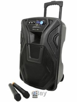 QTX Busker 12, 12 Portable DJ DISCO PA INC WIRELESS MICS, USB SD BLUETOOTH