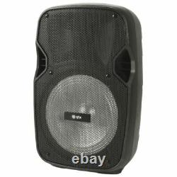 QTX PAL8 Portable Bluetooth PA Speaker Home Karaoke System LED Disco Light PAL-8