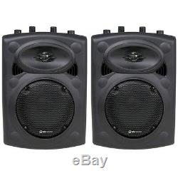 QTX Sound QR8K 8Active Speakers & QT15SA PA DJ Disco 15 Subwoofer Package