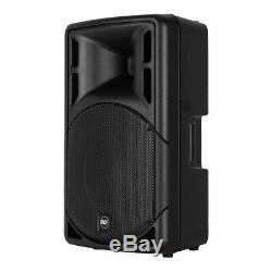 RCF ART315-A (MK4) Active 15 Speaker 1600W PA System Bundle DJ Disco