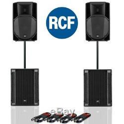 RCF Art 715-A MK4 Active DJ Disco PA Speaker (Pair) + RCF Sub 705-AS II (Pair)