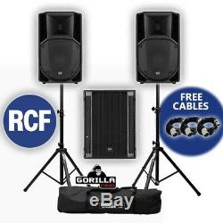 RCF Art 732-A MK4 Active DJ Disco PA Speaker (x2) & RCF Sub 705-AS II Subwoofer