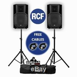 RCF Art 732-A MK4 Active Powered 12 1400W DJ Disco PA Speakers (x2) with Stands
