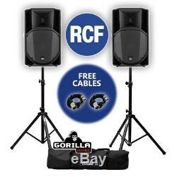 RCF Art 745-A MK4 15 Active Powered DJ Disco PA Speakers with Gorilla Stands