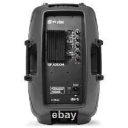 Skytec Audio SPJ12A V3 12 600W Active DJ Disco PA Club Stage Speaker