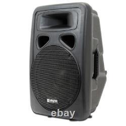 Skytec SP1200A 12 Active Powered Karaoke DJ PA Speaker Disco Wedge Monitor 600W