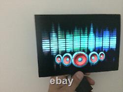 Sound Activated DJ LED Flashing Light SPEAKER EQUALIZER W SENSOR FOR ANY T SHIRT