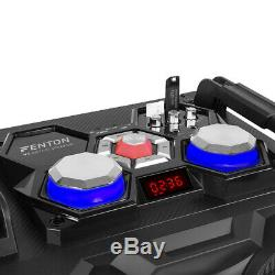 VS210 Bluetooth Disco Speaker Active Powered DJ Party Box with LED Lights 1600W