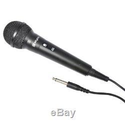 VS-10 Powered Bluetooth Disco Speakers Karaoke Party DJ Lights with Microphones