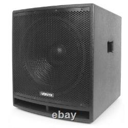 VX-880 PA Speaker System, Subwoofer and Microphone Active Powerful DJ Disco Set