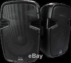 Vocal-Star PA Active 15 Speakers System Bluetooth MP3 1600W Inc Stands DJ Disco