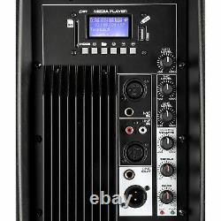 Vonyx 15 Bluetooth Active Powered Speaker MP3 USB SD DJ PA Disco Party 800W