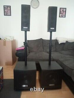 Vonyx Active PA Speaker System Bluetooth DJ Speakers Disco Party