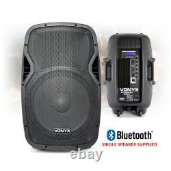 Vonyx Active Powered DJ Disco PA Speakers Wireless Bluetooth 15 1600W