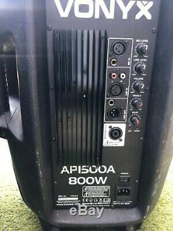 Vonyx Active Self Powered PA Speaker AP1500A 15 (Single) DJ Disco Party