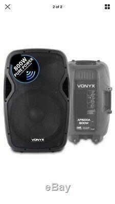 Vonyx Ap15A 15 Active Dj Speakers Pair disco speakers 800w