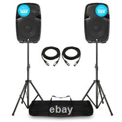 Vonyx SJP1000AD V3 Active 800W 10 DJ Disco PA Speaker (Pair) with Stands