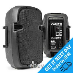 Vonyx SPJ-1000AD 10 Active PA DJ Disco Speaker Powered Audio Sound System 200W