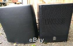 Yamaha DXS-15 Active Bass Bin Subwoofer For Dj Pa Disco Singer Band with cover
