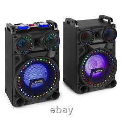 10 Haut-parleurs Bluetooth Karaoke Party Avec Disco Lights Mp3 Media Music System