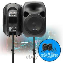 12 Pouces Active Speaker System Portable Dj Disco Pa Package Supports Câbles 700w