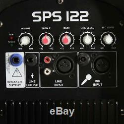 12 Pouces Haut-parleur Actif Système Portable Dj Disco Pa Package Stands Câbles 700w