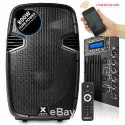 15 Bluetooth Powered Haut-parleurs Actifs & Supports Mp3 Usb Dj Pa Disco Party 1600w