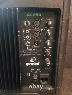 1 X Gemini Actif Gx250 10 Pa Haut-parleurs Disco Utilisés