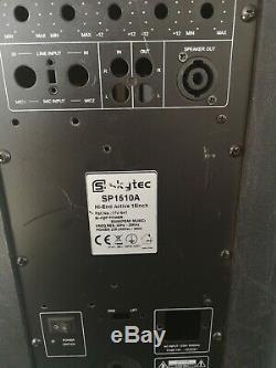 1xskytec & 1xqtx Son 15 1600w Passif Disco Dj Pa Abs Haut-parleurs (identique)