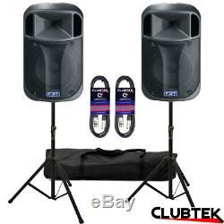 2 X 12 Fbt J12a Actif Dj Disco Club Pa Président + Free Stands Sac 10m Leads Royaume-uni