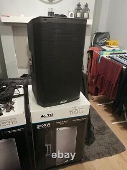 2 X Alto Ts315 Haut-parleurs Dj Concert Disco Haut-parleur + Sacs