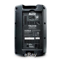 2 X Alto Tx208 8 600w Active Pa Disco Haut-parleur Alimenté Par Une Disco, Alimenté Par 6 M De Câble, Royaume-uni