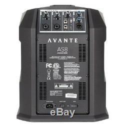 2 X Avante As8 Colonne Haut-parleur 800w Dj Disco Son Système De Sonorisation Inc Colonne Sac