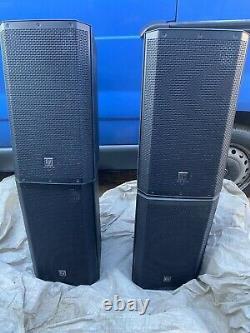 2 X Electrovoice Zlx12p 2 Way 1000w 12 Powered Speaker Dj Disco Pa Avec Couvertures