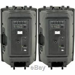 2 X Qtx Qr15k 15 Paire De Haut-parleurs Portables Actifs 800w Dj Disco Sound System Pa