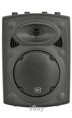 2 X Qtx Qrk10 Active Speaker Pa Son Système Et Dj Disco Stands Band Package