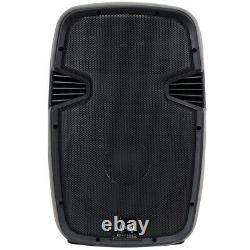2x 12 Inch Professional Dj Pa Disco Party Active Sound System Haut-parleurs 1200w