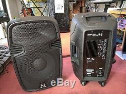 2x 12 Pouces Dj Professionnel Pa Disco Party Sound System Haut-parleurs Actifs 1200w