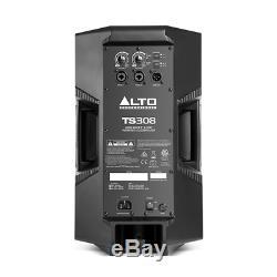 2x Alto Ts308 Actif 8 Haut-parleur Haut-parleur 2000w Powered Disco Dj Sound System