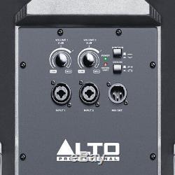 2x Alto Ts312 12 4000w Powered Haut-parleur Actif Sono Dj Disco Band + Couverture + Xlr Plomb