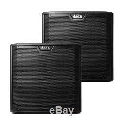 2x Alto Ts315s Actif 15 2000w Caisson De Basses Graves Bin Dj Disco Président Sound System